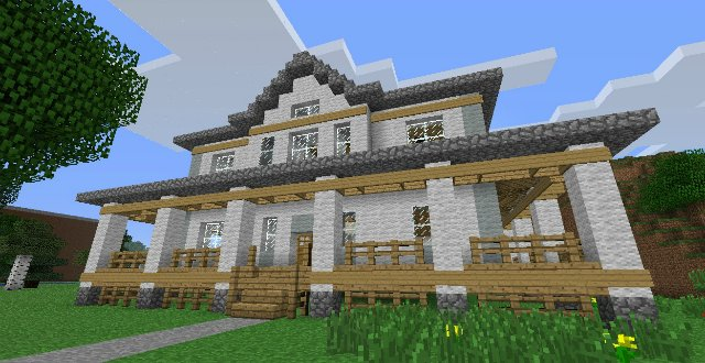 Красивые дома в майнкрафте фото